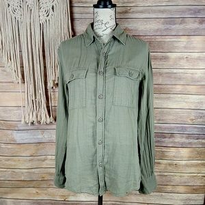 Converse | All Star Army Green Button Front Shirt